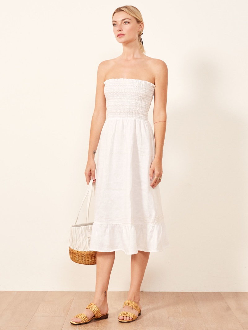 Reformation Bermuda Dress in White $198