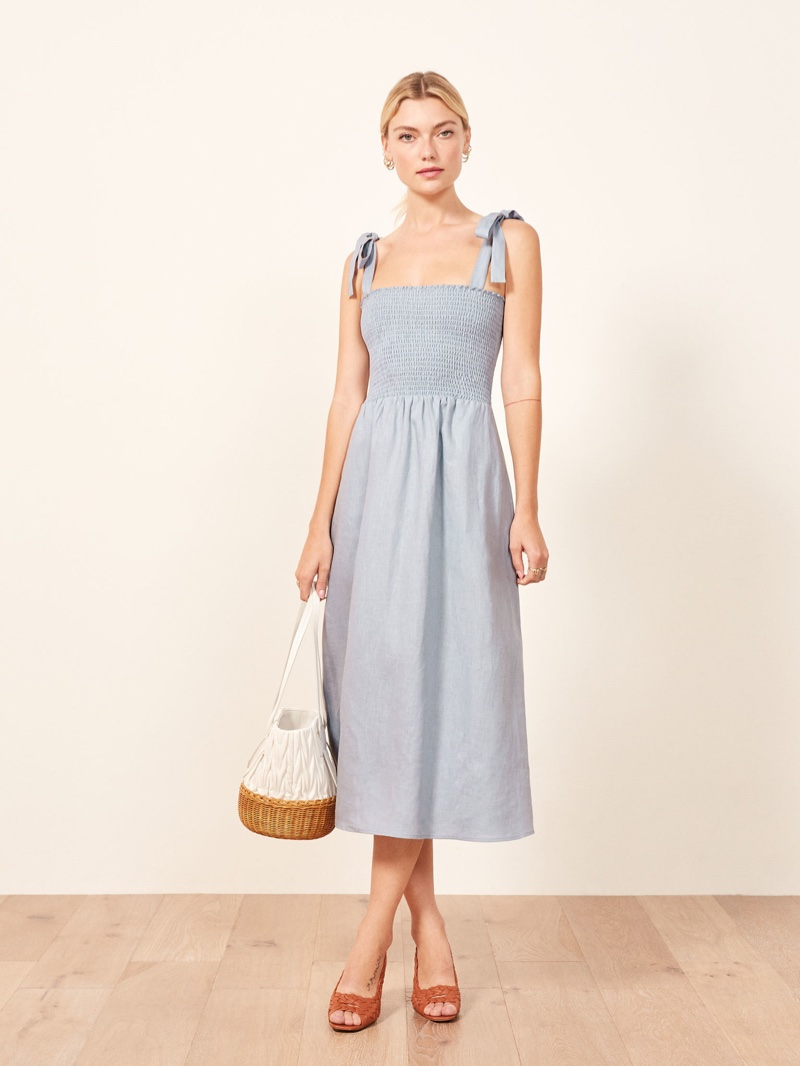 Reformation Canyon Dress in Mineral $198