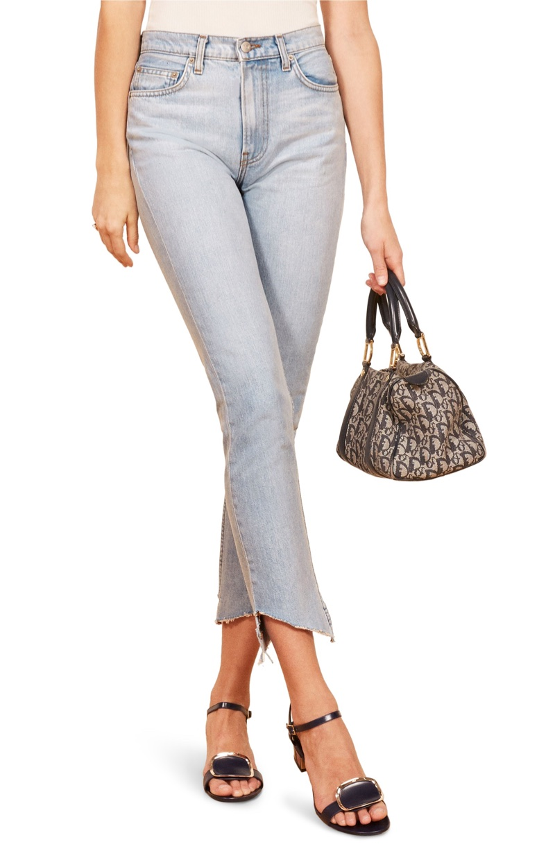 Reformation Julia Crop High Waist Cigarette Jeans $128
