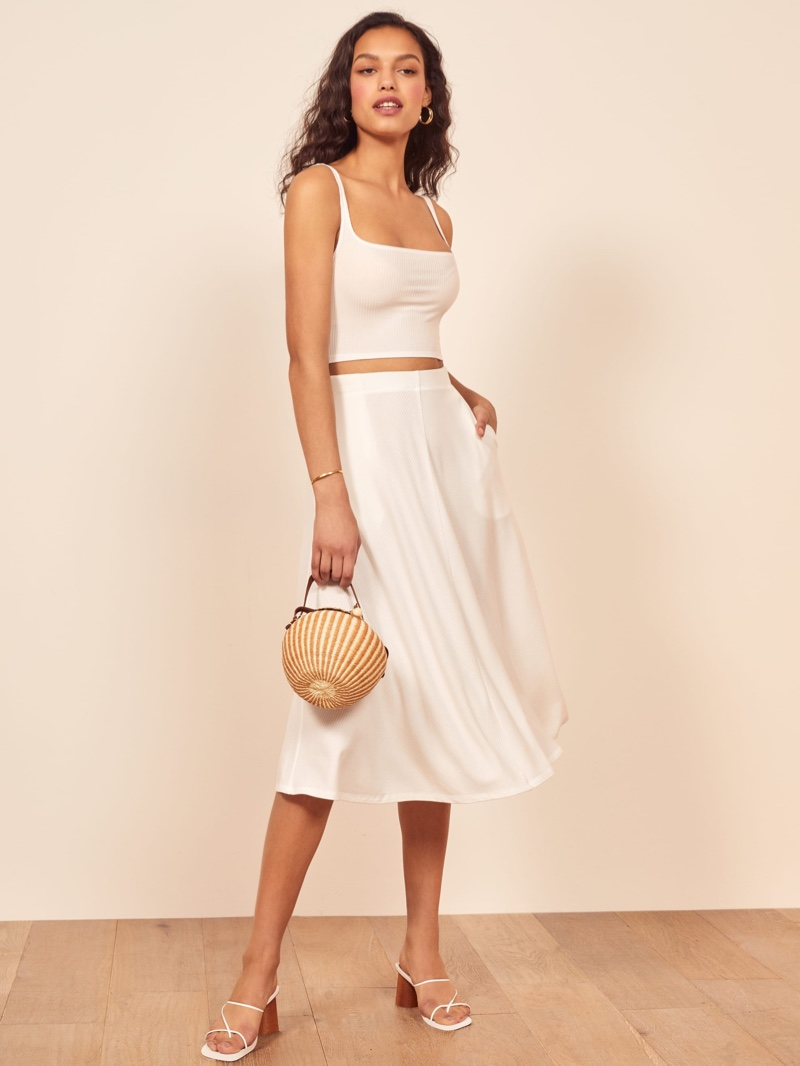 Reformation Molly Two Piece in White $128