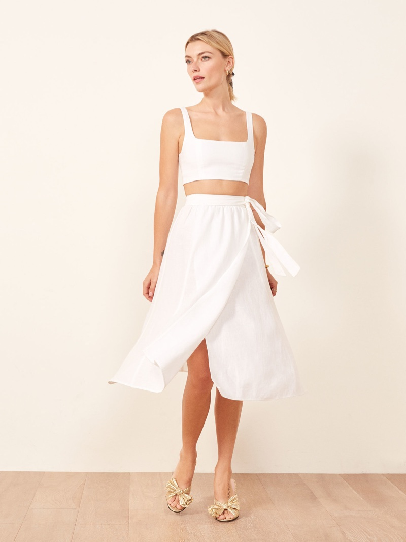 Reformation Molto Two Piece in White $218