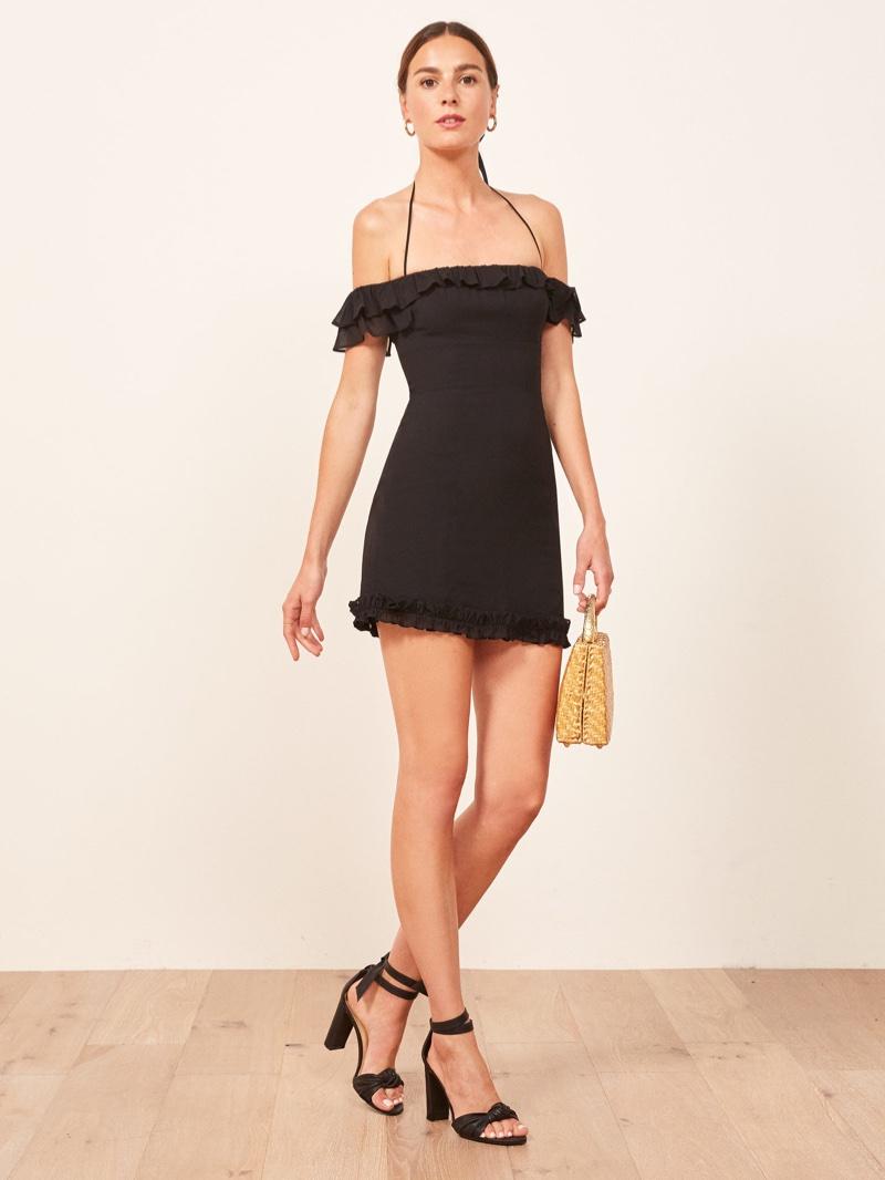 Reformation Veranda Dress in Black $218