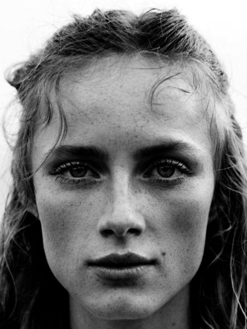 Rianne van Rompaey Models Sporty Beachwear in Vogue UK