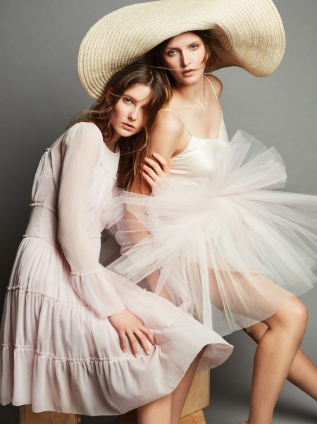 Anouk & Mijntje Pose in Romantic Looks for InStyle Germany