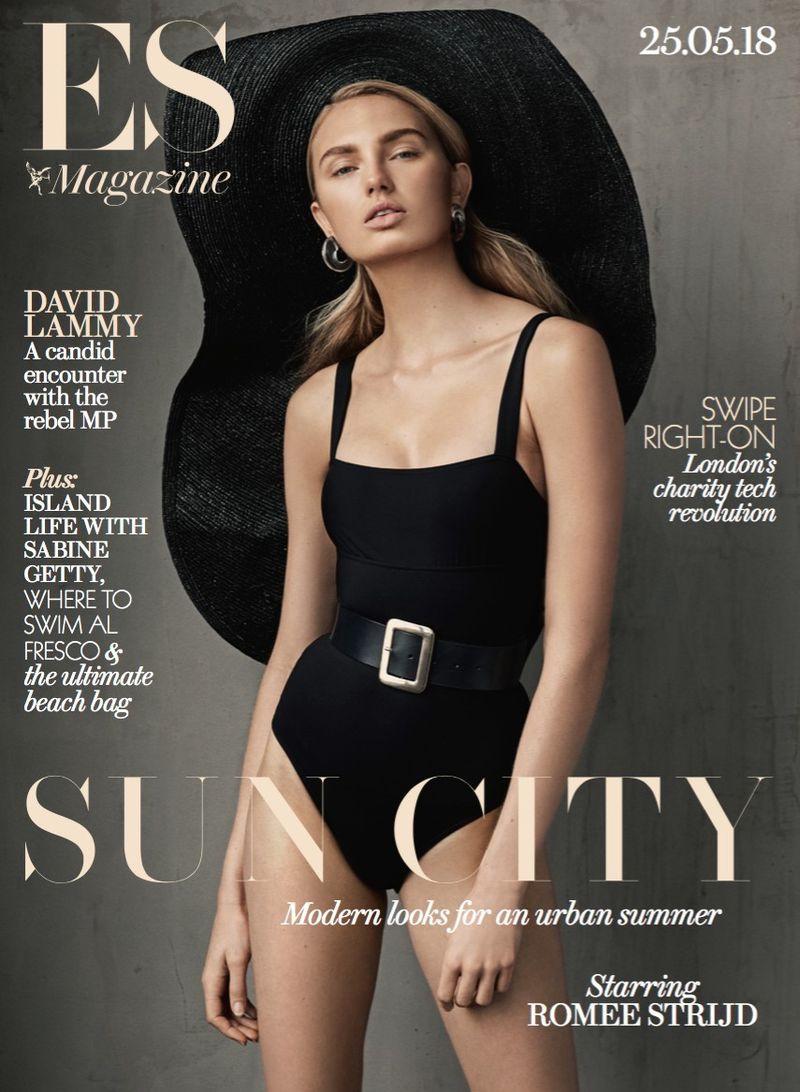 Romee Strijd Embraces Elegant Fashions for ES Magazine