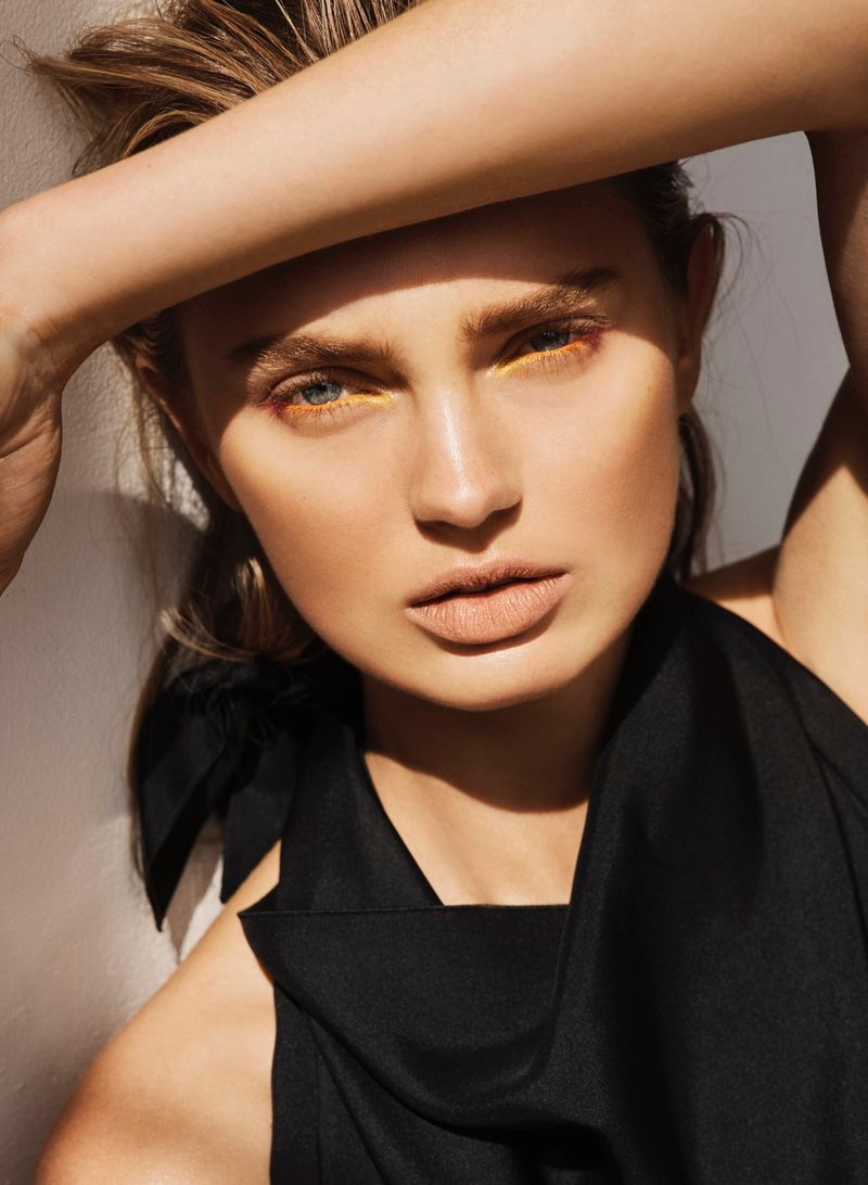 Romee Strijd Embraces Elegant Fashions for ES Magazine