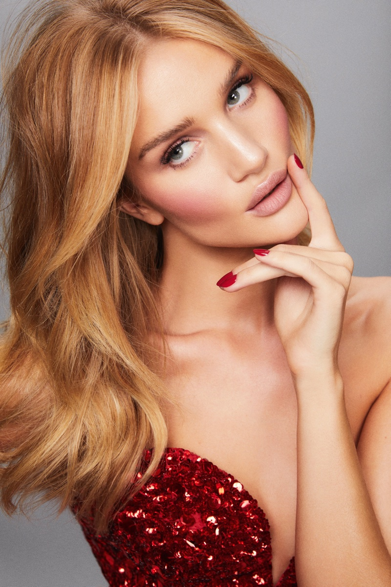Rosie Huntington-Whiteley stars in Rose Inc. photoshoot