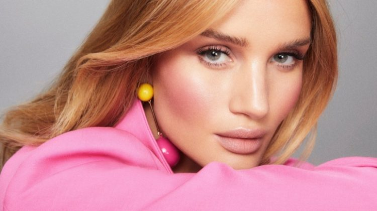 Rosie Huntington-Whiteley shows off a natural makeup look for Rose Inc.