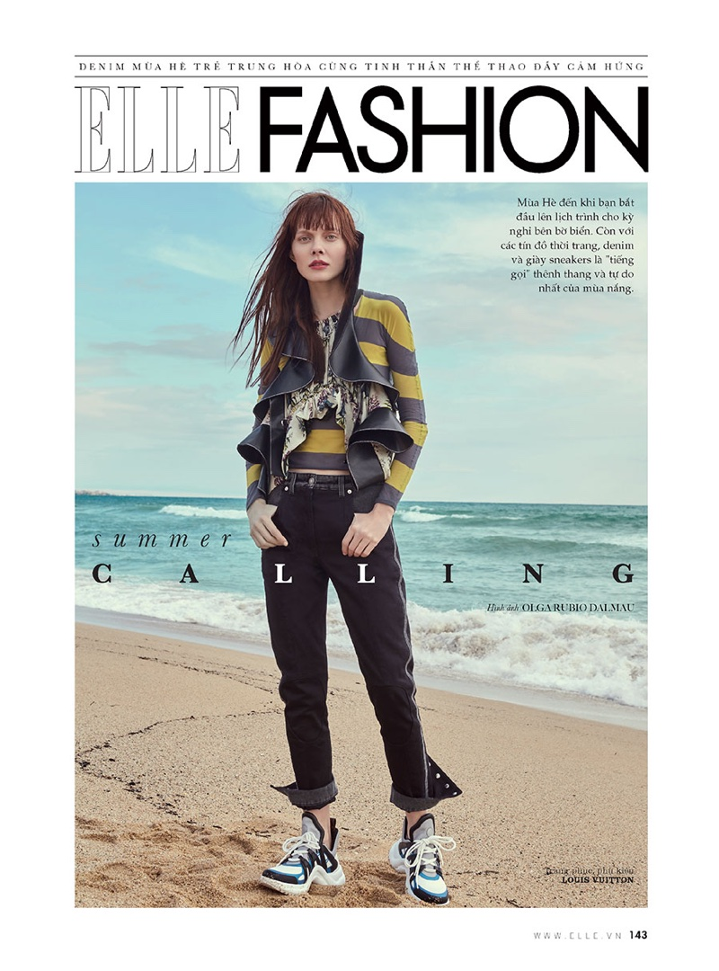 Sabi Khazgaleeva Embraces Denim Looks for ELLE Vietnam