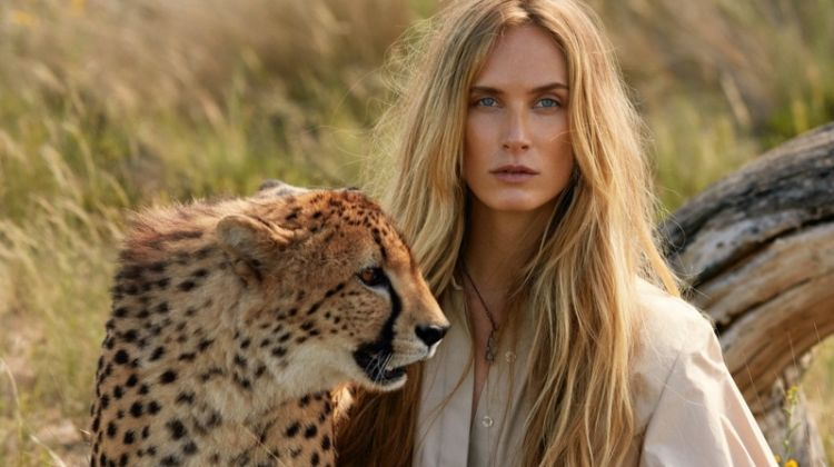 Aleksandra Ørbeck Nilsen Models Safari Style for ELLE France