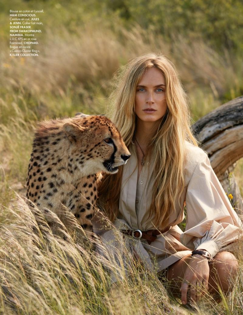 Aleksandra Ørbeck Nilsen Models Safari Style for ELLE France