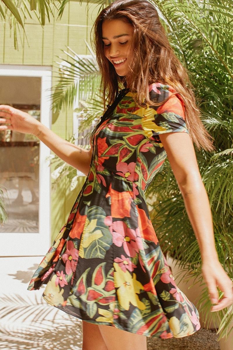 UO Cali Button-Down Mini Dress