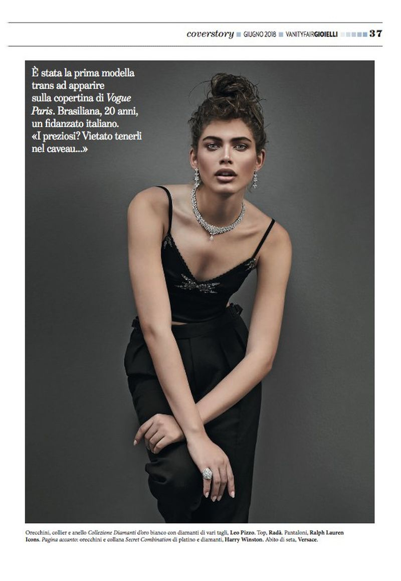 Valentina Sampaio Models Luxe Jewelry for Vanity Fair Italy