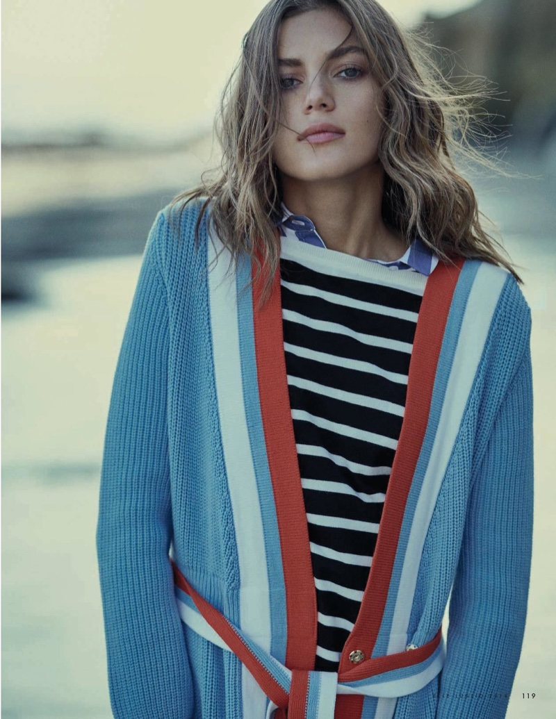 Valery Kaufman Models Summer Stripes for ELLE Italy