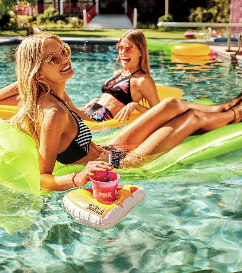 Victoria's Secret PINK spotlights pool style for summer 2018