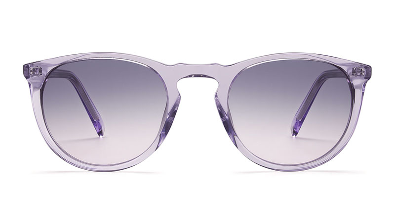 Warby Parker Haskell Sunglasses in Amethyst Crystal with Violet Gradient Lenses $95