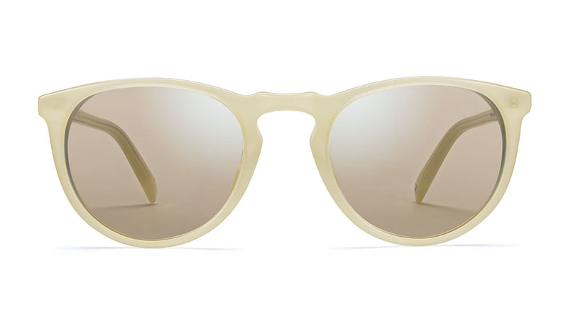 Warby Parker Haskell Sunglasses in Lemon Meringue with Flashed Mirrored Yellow Lenses $95