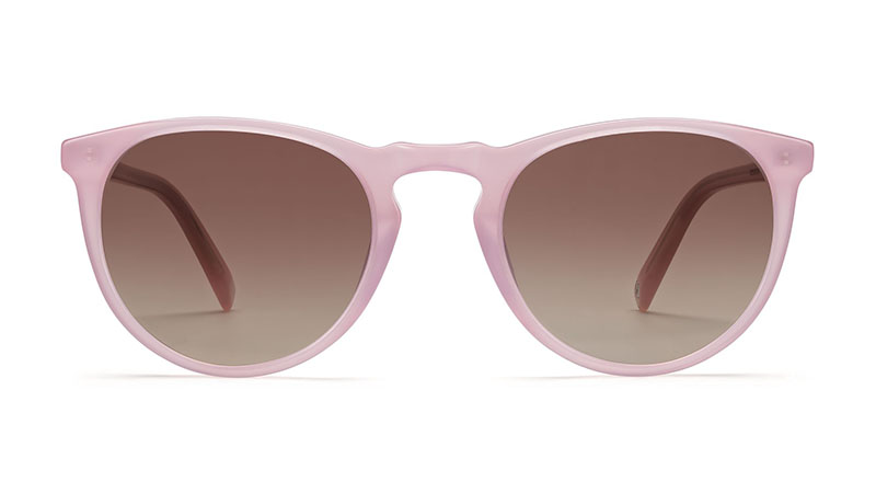 Warby Parker Haskell Sunglasses in Pink Opal with Pink Gradient Lenses $95