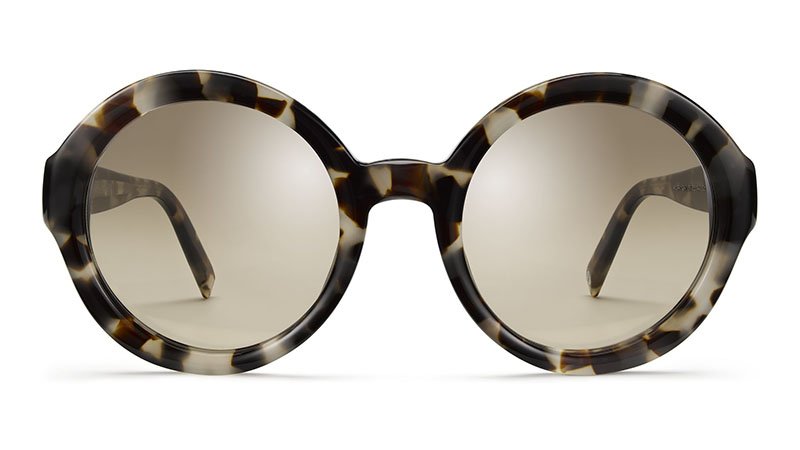 Warby Parker Poppy Sunglasses in Pearled Tortoise with Flash Reflective Brown Gradient Lenses $95