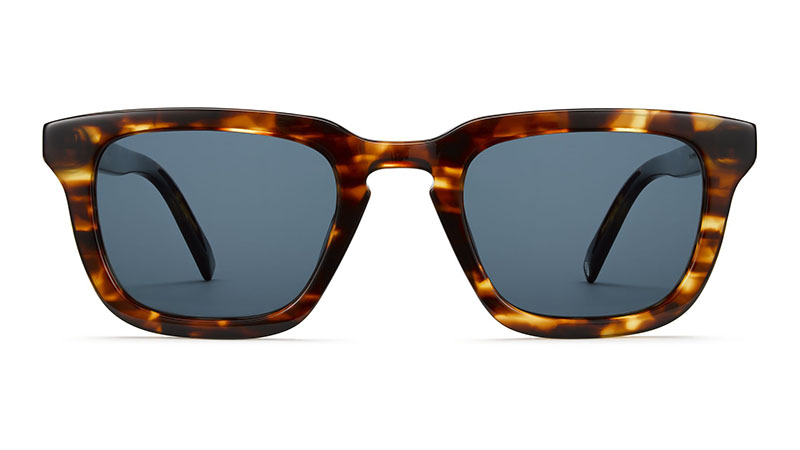 Warby Parker Scout Sunglasses in Root Beer with Classic Blue Lenses $95