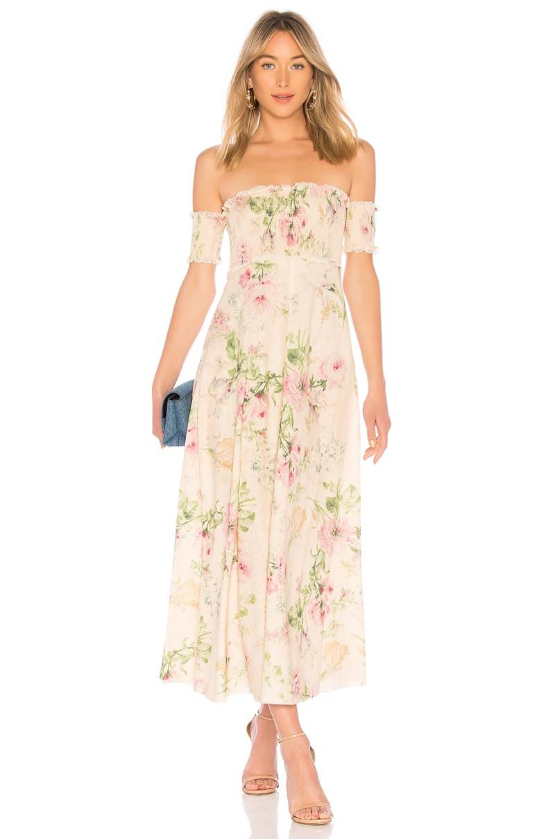 Zimmermann Iris Shirred Bodice Maxi Dress $615