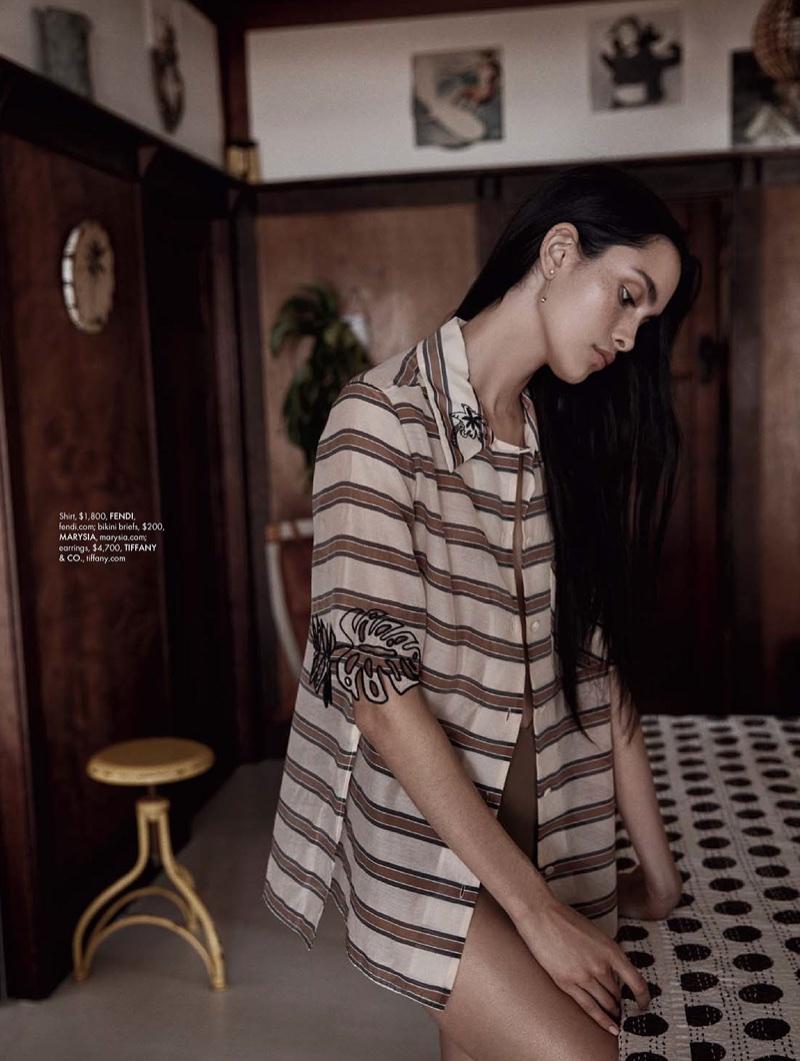 Zoe Barnard Embraces Minimal Style for ELLE Australia