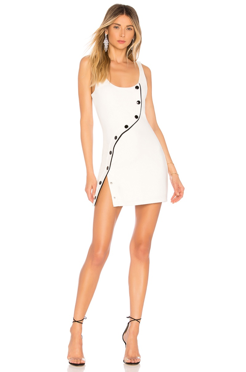 h:ours Marquee Dress in Ivory $168