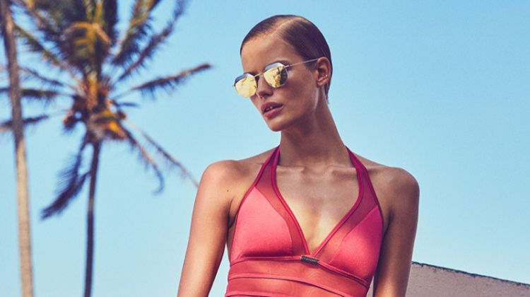 Alena Blohm Sizzles in Swimsuit Styles for Grazia Italy