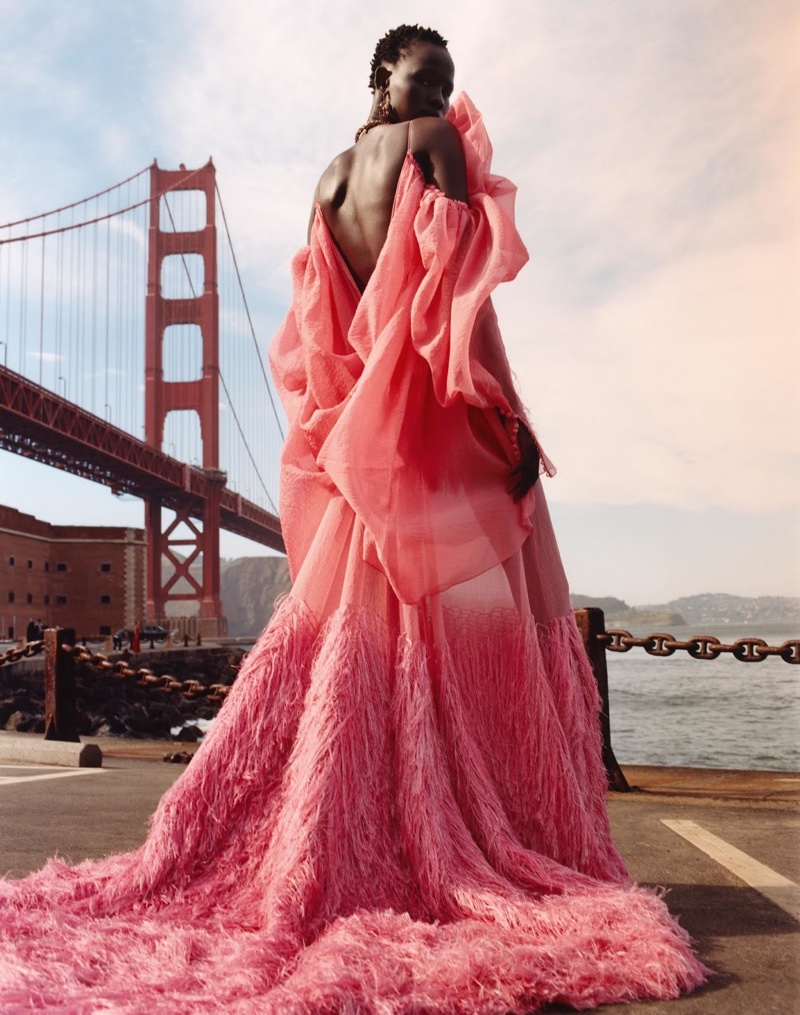 Shanelle Nyasiase stars in Alexander McQueen fall-winter 2018 campaign