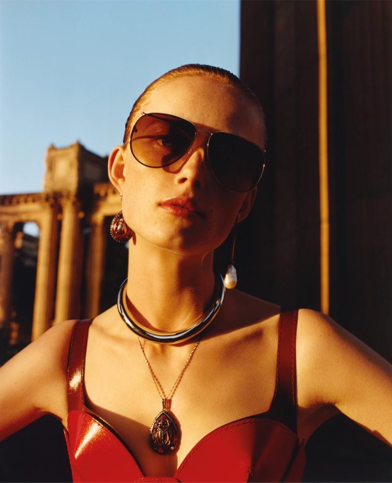 Rianne von Rompaey appears in Alexander McQueen fall-winter 2018 campaign