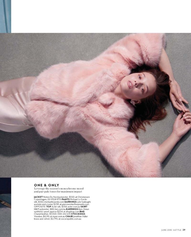 Alicja Tubilewicz Poses in Pretty Pastels for InStyle Australia