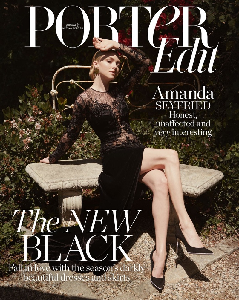 Amanda Seyfried on PORTER Edit July 13th, 2018 Cover