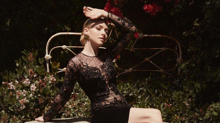 Amanda Seyfried Looks Lovely in Lace for PORTER Edit