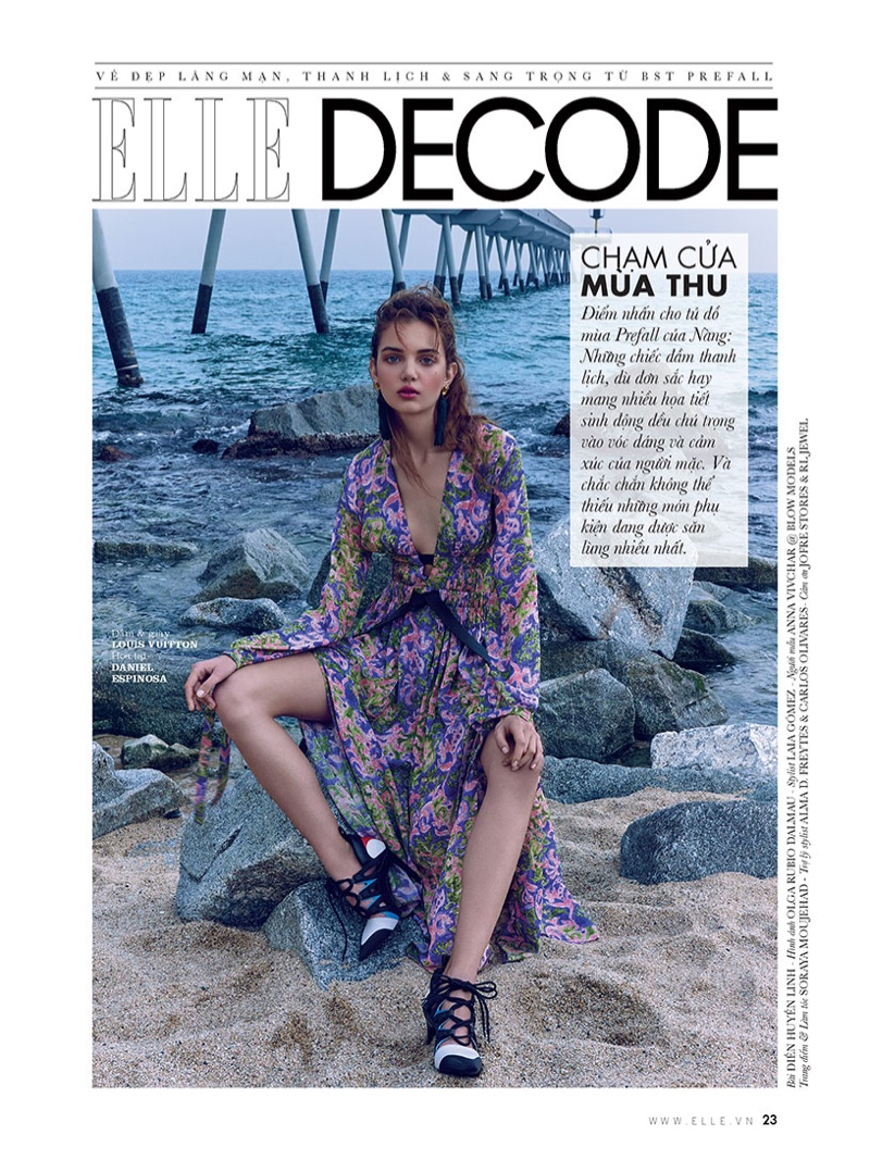 Anna Vivchar Models Pre-Fall Looks for ELLE Vietnam