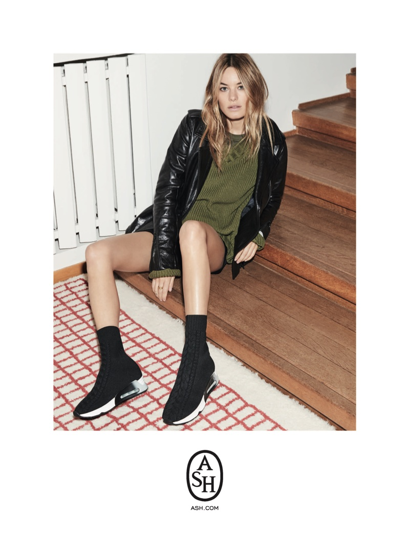 Camille Rowe stars in ASH fall-winter 2018 campaign