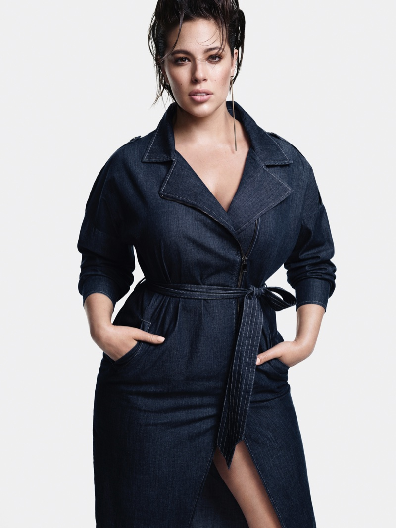 Ashley Graham fronts Marina Rinaldi Denim fall-winter 2018 campaign
