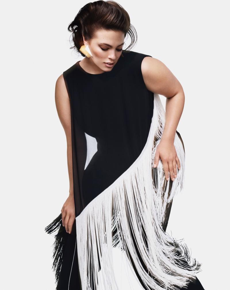 Dressed in fringe, Ashley Graham fronts Marina Rinaldi fall-winter 2018 campaign