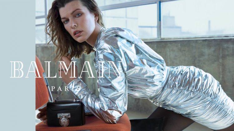 Milla Jovovich Shines in Balmain Fall 2018 Campaign