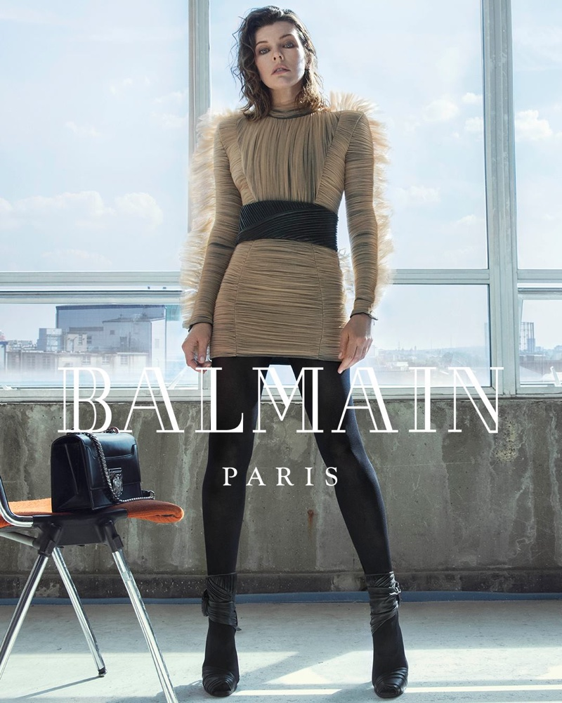 Actress Milla Jovovich fronts Balmain fall-winter 2018 campaign