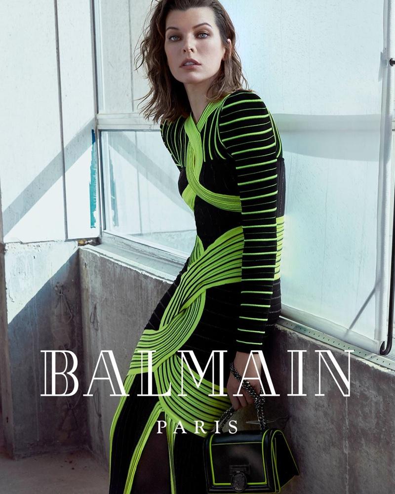 Balmain taps Milla Jovovich for fall-winter 2018 campaign