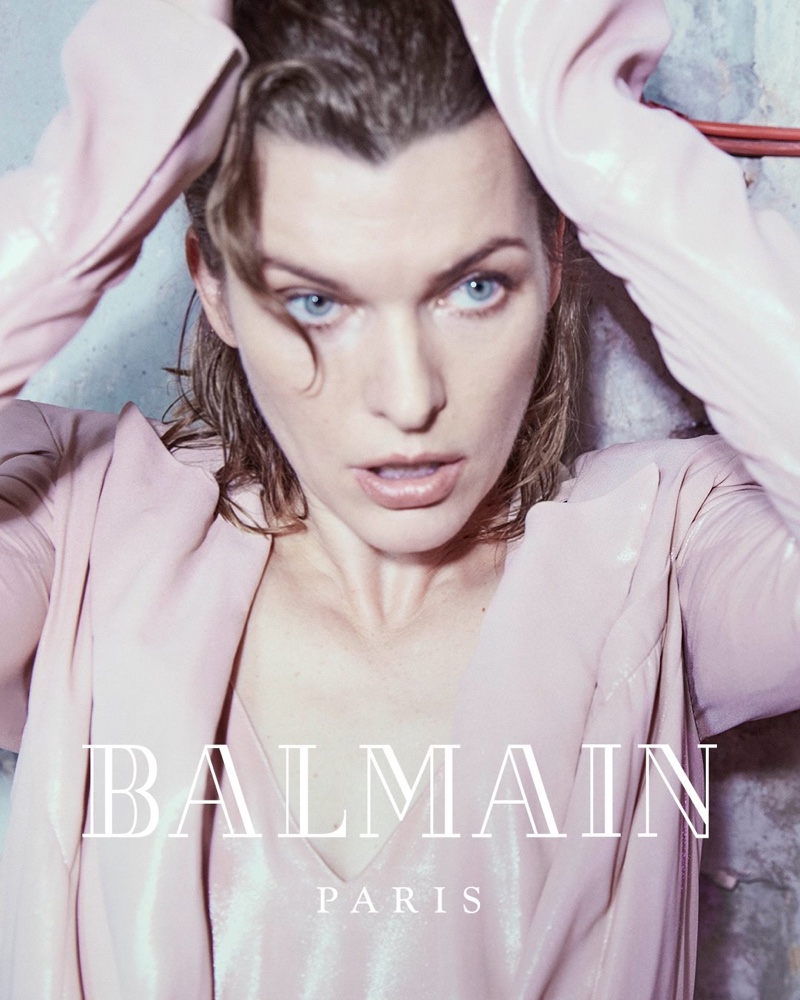 Ready for her closeup, Milla Jovovich fronts Balmain fall-winter 2018 campaign