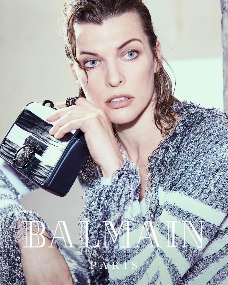 Balmain enlists actress Milla Jovovich for fall-winter 2018 campaign