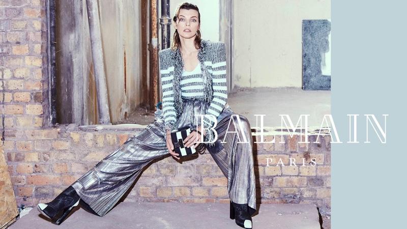 Milla Jovovich appears in Balmain fall-winter 2018 campaign