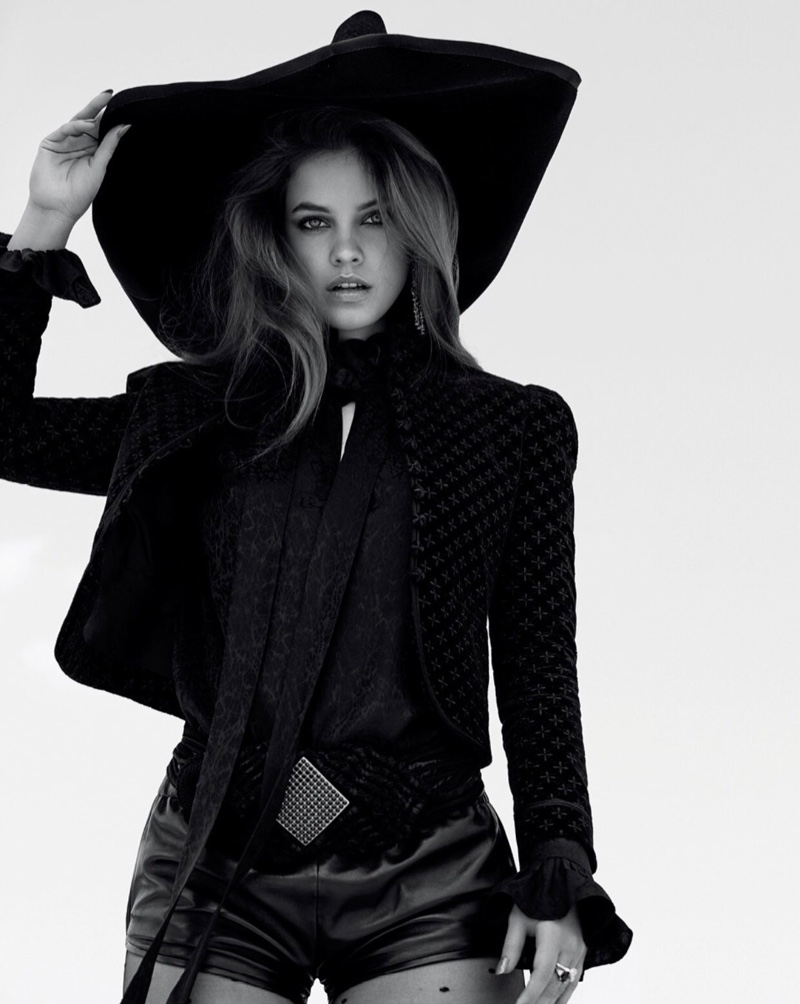 Barbara Palvin Wears Western Glam Looks for Tatler Russia
