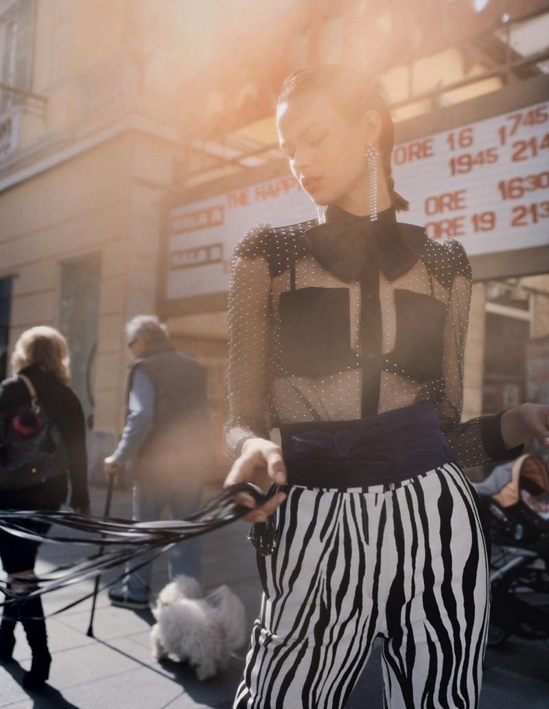 Birgit Kos Looks Elegant in Italy for Vogue China