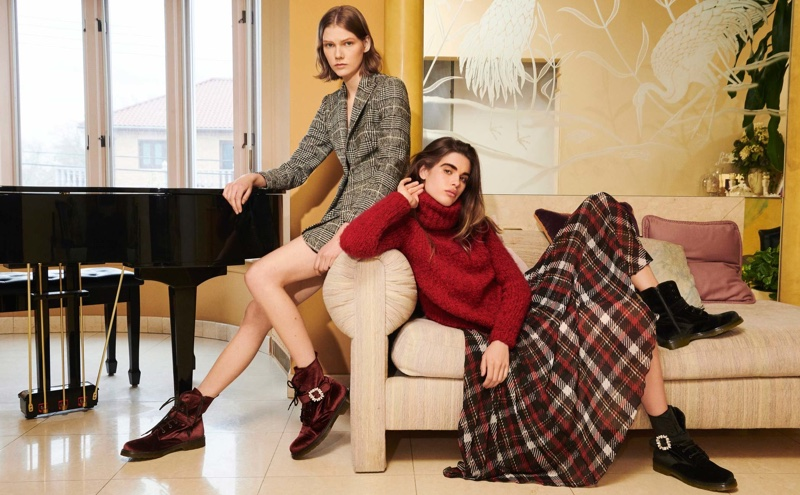 Marland Backus and Zoi Mantzakanis star in Blugirl fall-winter 2018 campaign