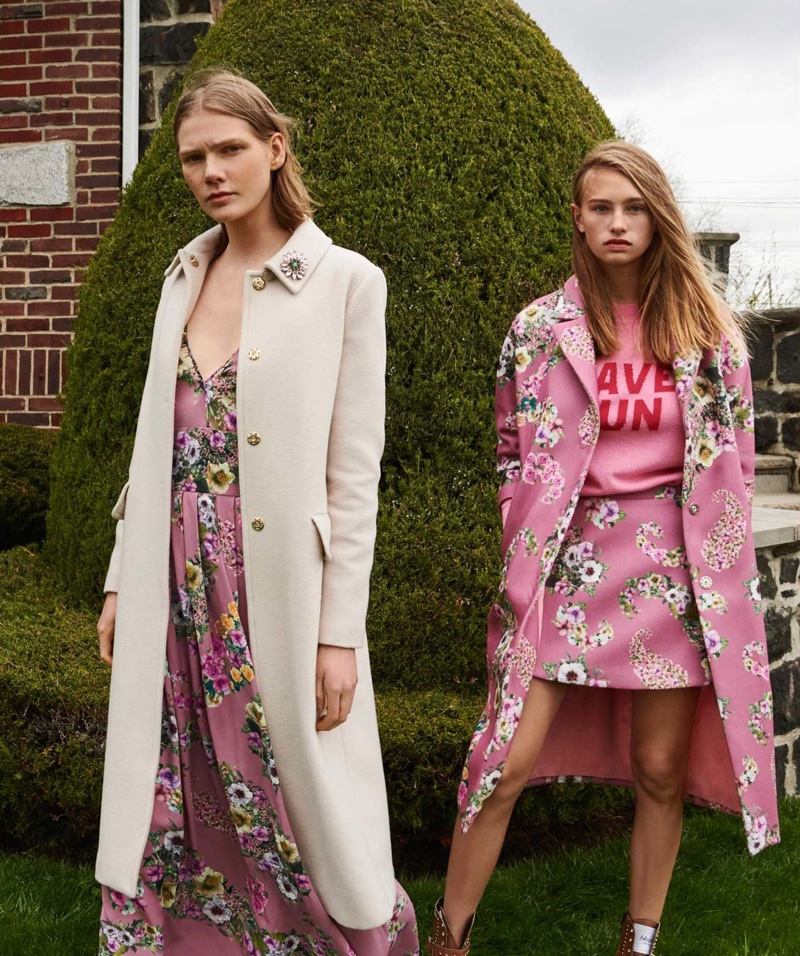 Marland Backus and Molly Finnigan appear in Blugirl fall-winter 2018 campaign