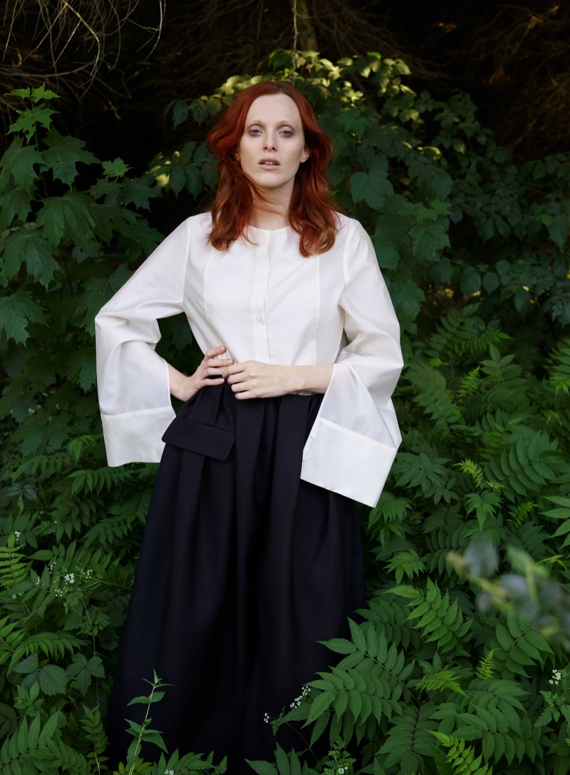 Model Karen Elson appears in COS fall-winter 2018 campaign
