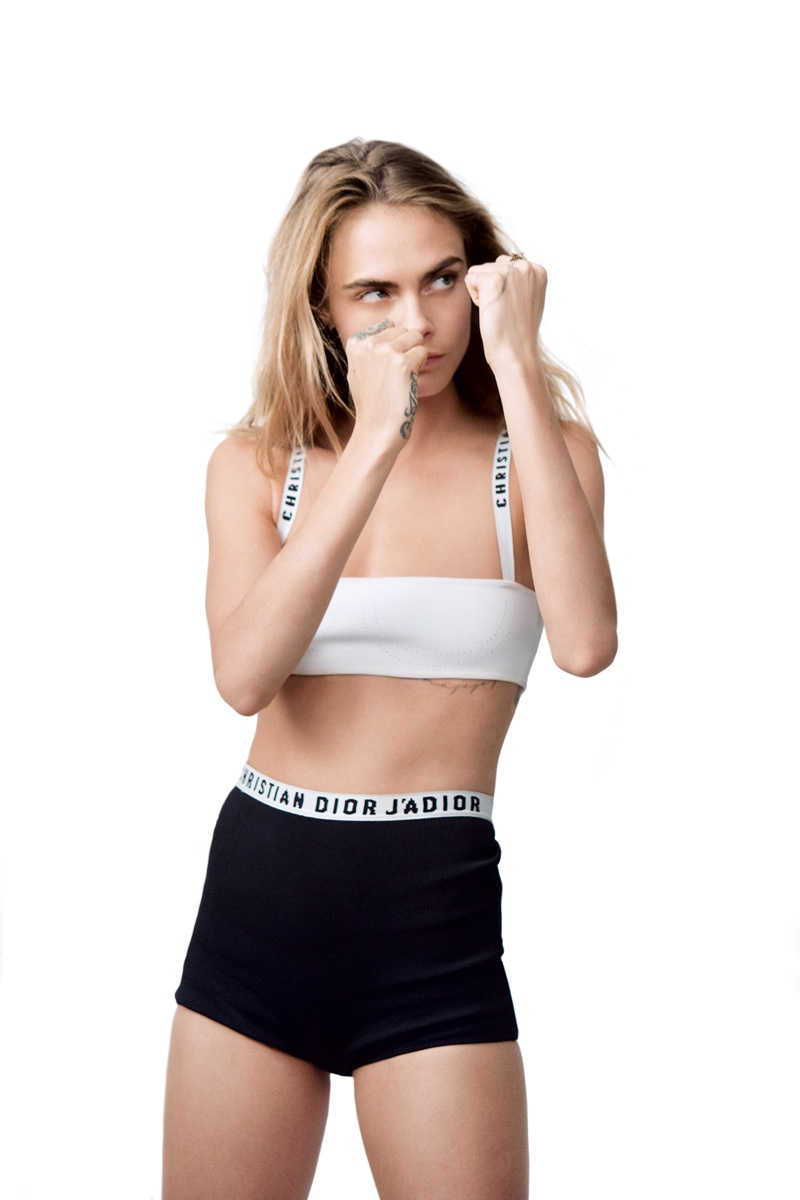BEHIND THE SCENES: Cara Delevingne puts her guard up for Dior Dreamskin shoot