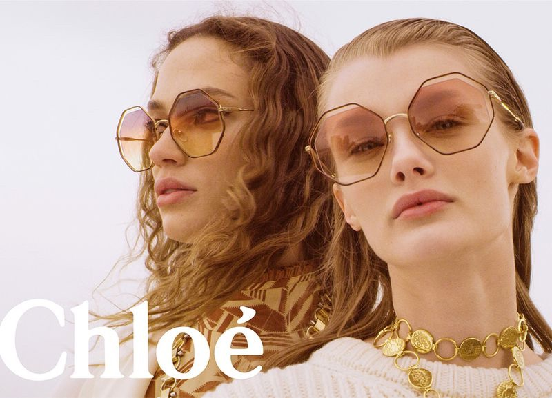 Sophie Koella and Kris Grikaite front Chloe fall-winter 2018 campaign
